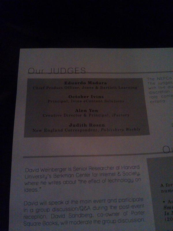 Thanks, judges! Good luck picking a winner from those presentations #nepco2014 http://t.co/fqDe31d5JD