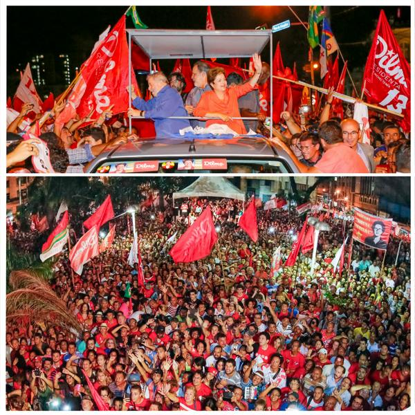 Noite inesquecível em Recife. Recarreguei minhas energias para essa reta final. Valeu, Pernambuco! #QueroDilmaTreze http://t.co/QR7120HzXb
