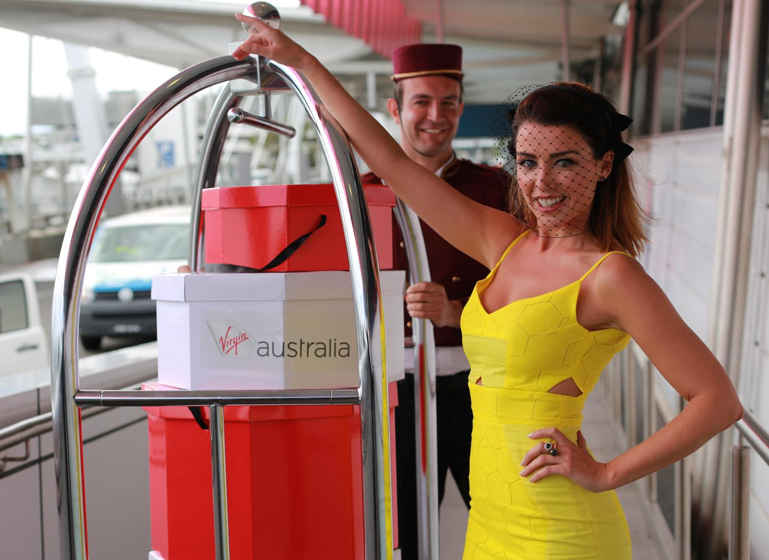 RT @VirginAustralia: Today, we had @DanniiMinogue help launch our Sydney Lounge Hat Valet service for Spring Racing Carnival http://t.co/90…