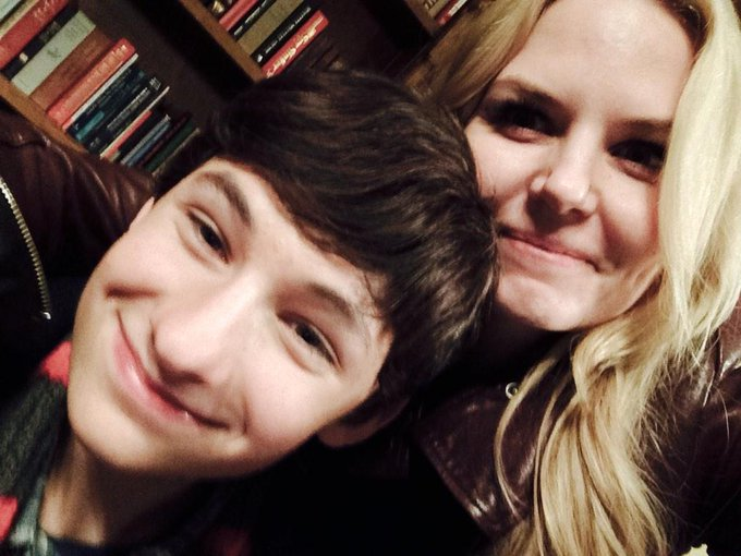 Day 58: hanging with dear sweet Henry @Jared_Gilmore on set!! #101Smiles #UglyDucklings http://t.co/