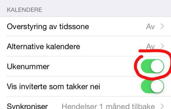 Først nå fant jeg ut at iPhone har fått ukenummer i kalenderen! http://t.co/7XqGPuos1h
