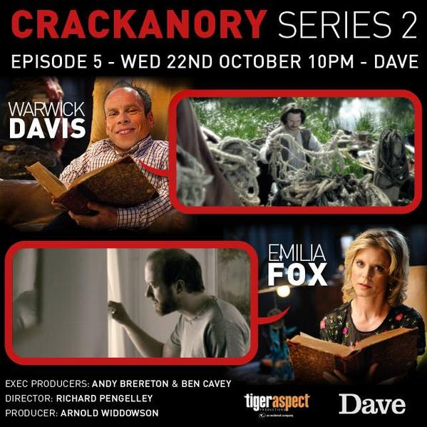 Tonight! 10pm Dave. I have written another Crackanory - this time read by Warwick Davis. http://t.co/N4Vyd7AINA
