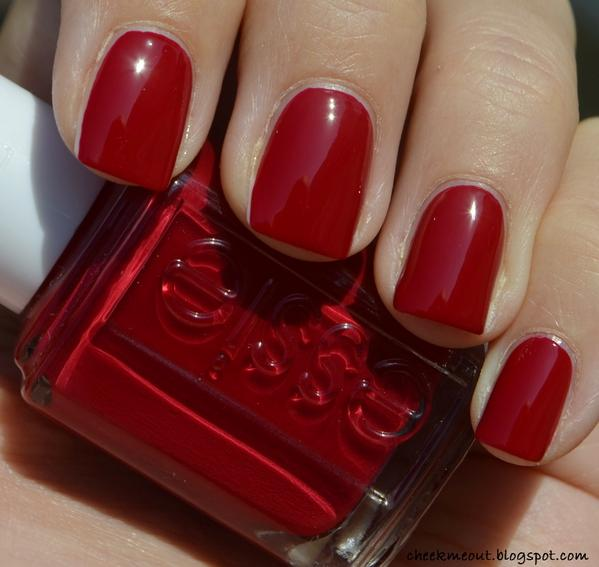 I love my nails painted in deep juicy red color like @essie jump in ...