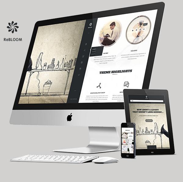 Rebloom - Our Creative responsive multi-purpose #WordPress theme PLUS #BBPress theme included: http://t.co/hXdOz1YtwS http://t.co/0zKNQIwdte