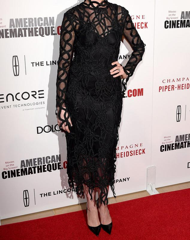 You will NEVER believe which star wore this edgy rope-embellished dress: http://t.co/xRjySG76m0 http://t.co/sPSQVVV6DL