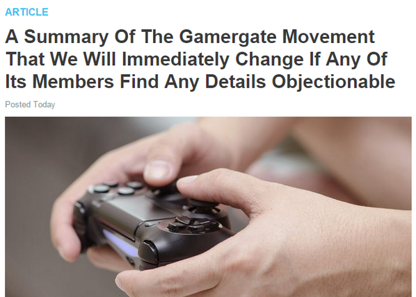 The Onion on GamerGate's preferred view of ethics and corruption in video game reporting: http://t.co/60k25sfmeA http://t.co/68dglCGkQ5