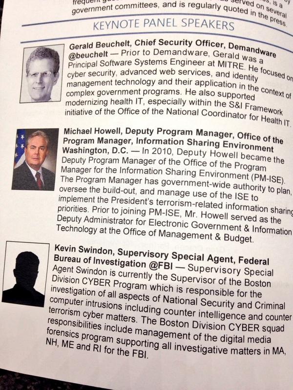 Keynote panel G.Beuchelt, M.Howell, & K.Swindon discuss the state of cybersecurity & info sharing orgs #MTLCsecurity http://t.co/9pYdSirY1v