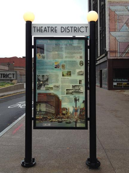 1 of 3 new signs in the #buffalotheatredistrict in #downtownbuffalo celebrating our #history #carssharingmainstreet http://t.co/C87gY0EPge