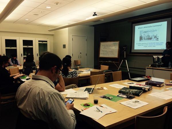 Listening to @MMOckerbloom @BMCLibraries -- we're adding @BrynMawrCollege STEM histories tonight. #BMCWiki http://t.co/bhOV9AJHRN