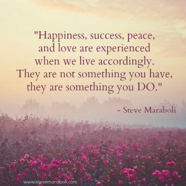 Peace And Love Quotes : ... peace, and love are experienced when we live accordingly... #quote #