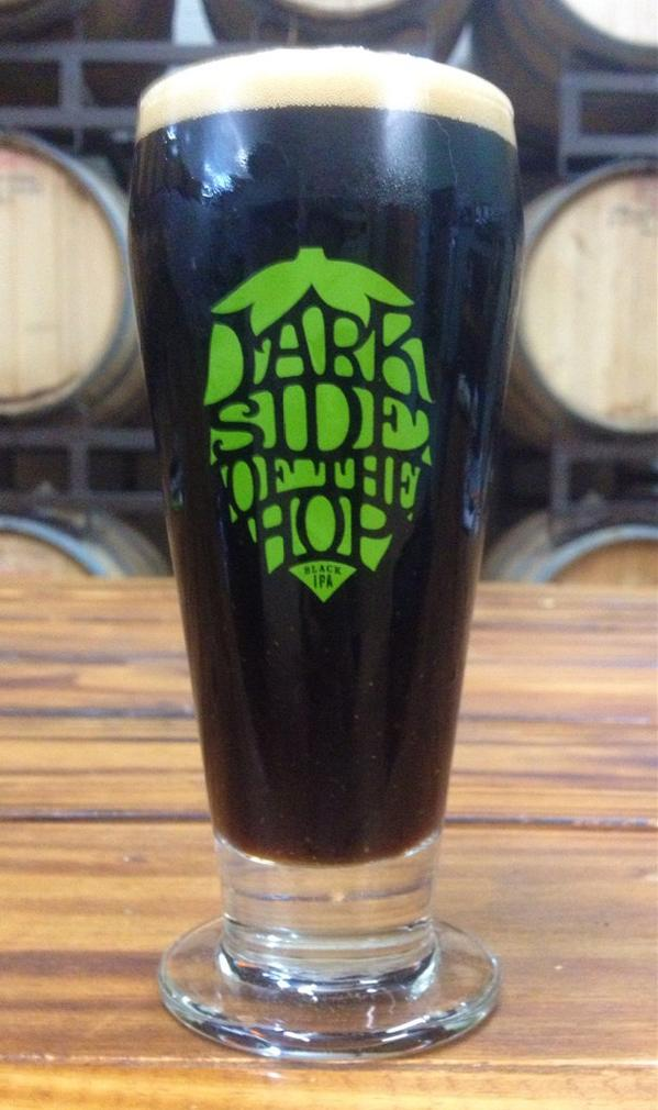 Limited edition glasses with the release of Dark Side of the Hop, our new Black IPA, tonight at 7 @FlyingSaucerSA! http://t.co/UqFinHtPK6