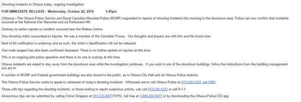 Ottawa Police Press Release http://t.co/9RQ5CQ2Zdg