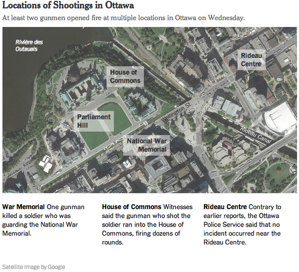 Updated: The shooting incident in Ottawa had the appearance of a coordinated attack http://t.co/brn047wYz8 http://t.co/rfCQHTUPft