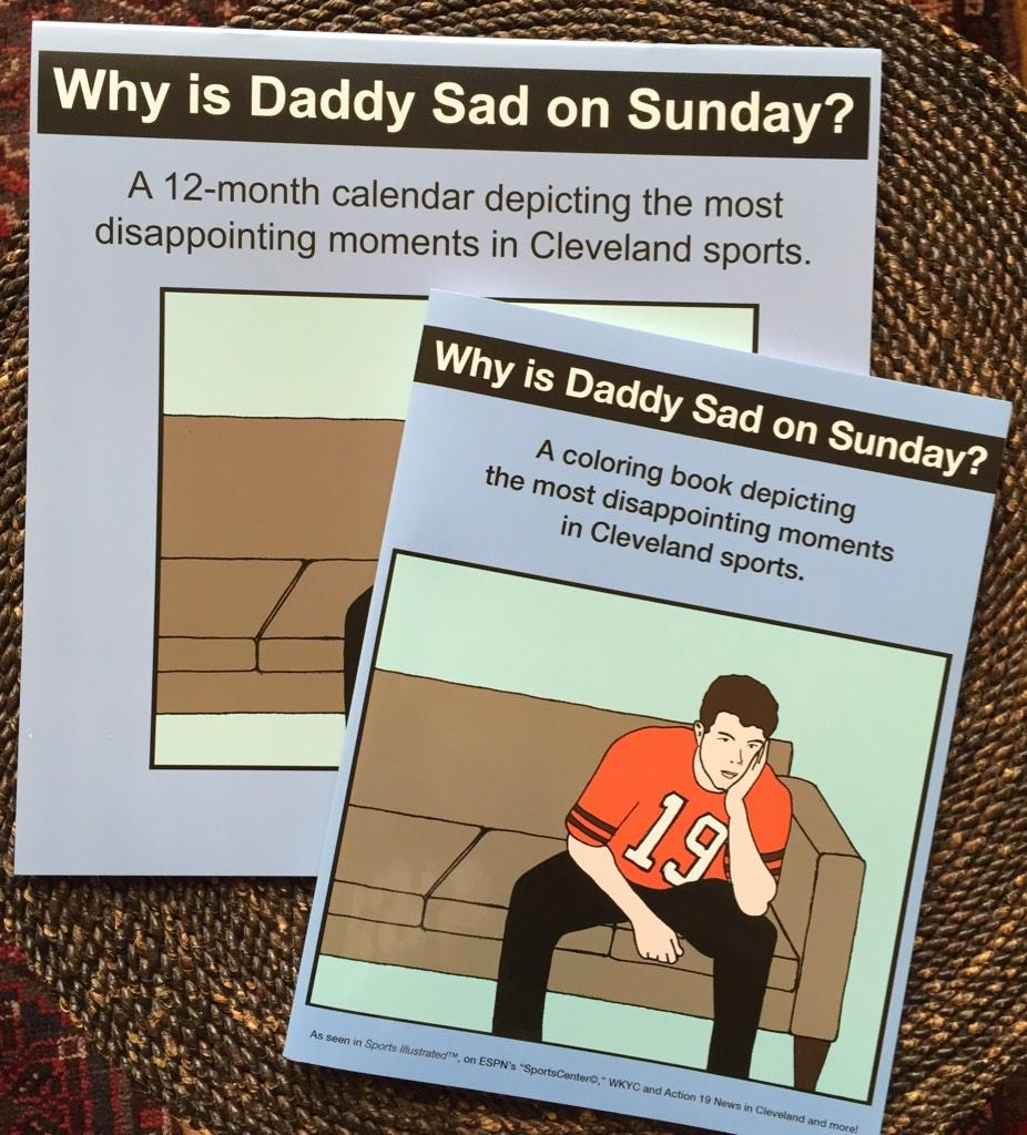 cle coloring book on twitter save 10 why is daddy sad on sunday combo coloring book 2015 calendar httptcosdixaso6fo thisiscle cavs - Cleveland Sports Coloring Book
