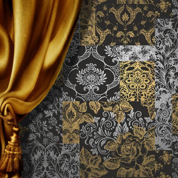Go Wallpaper Ltd UK On Twitter Vymura Brocade Suede Effect In Black Silver And Gold Tco