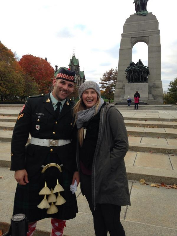 """@megunder: Sunday, we asked a very handsome guard for a picture with my friend visiting from Cali-RIP Nathan Cirillo http://t.co/Rht1VKnKW4"
