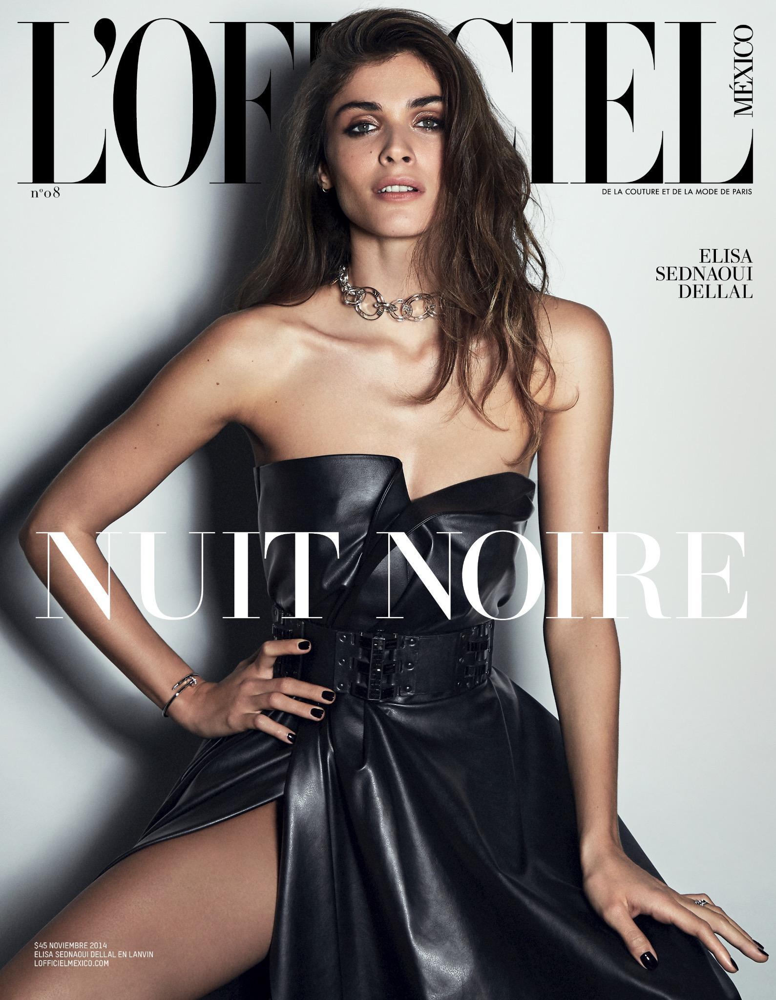 RT @lofficielmexico: Nuestra nueva portada es @ElisaSednaoui en @LANVINofficial con el estilismo de @ElisaNalin #NuitNoire #Noviembre http:…