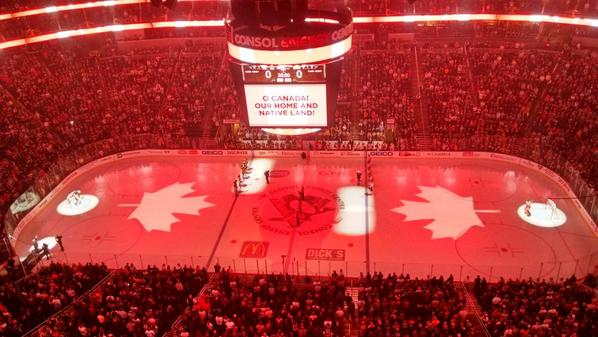 """Very classy @penguins singing Oh Canada at tonights game. RT @acarducci: http://t.co/Xo6G2Tb91o"" #OttawaStrong"