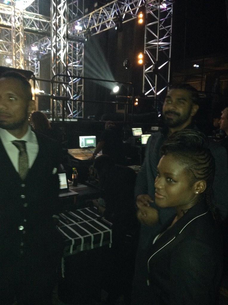 RT @GeniusBrandUK: Backstage @ssearena @MOBOAwards waiting to present Best Newcomer Award...@mrdavidhaye @NicolaAdams2012 @rubentabares htt…