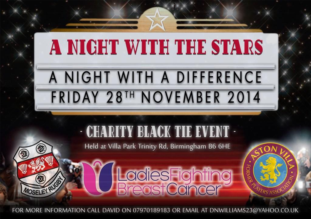 RT @DWCharityEvents: #ANightWithTheStars in aid of Ladies Fighting Breast Cancer 28/11/14. Rt for best wishes @MissAlexjones http://t.co/XF…
