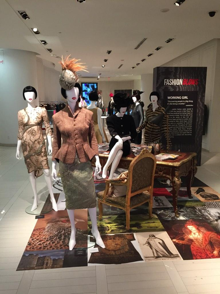 Don't miss the #fashionblows exhibit at #theroom from Oct 23 until Nov 1. 55 fab pieces from Isabella Blow's wardrobe http://t.co/h9lKdK8yBy