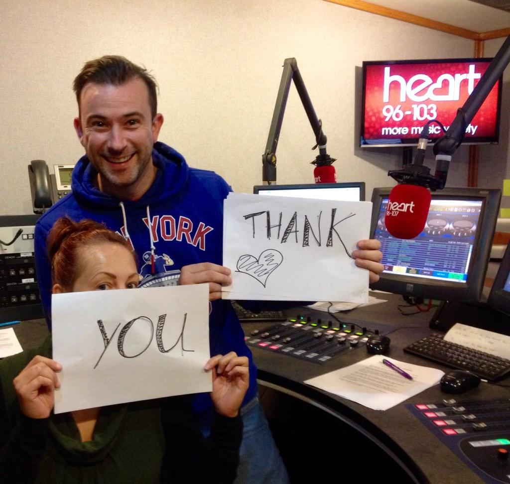 """RT @heidisecker: """"@HeartEastAnglia: A big Good Morning to our 19,000 new Heart listeners - from Dave & Sarah #chuffedtobits http://t.co/Qkv…"""