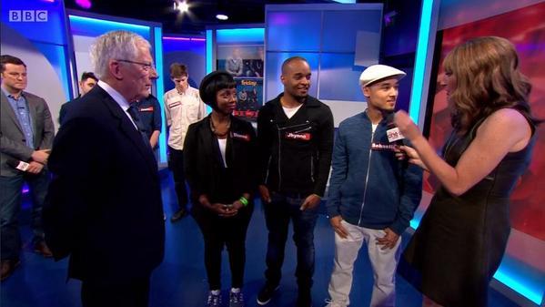The Upshot family on BBC Ones - The One Show yesterday.  @idea_award @SebastianThiel @DionneReid Jhynno Marcelin