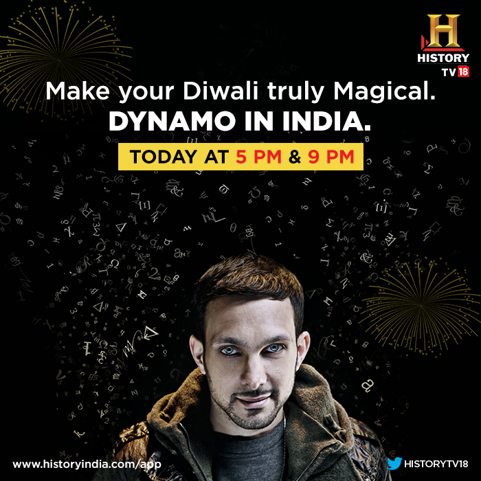 RT @HISTORYTV18: Happy Diwali! Do not miss the Diwali Special, #DynamoInIndia episode featuring @Dynamomagician and @irrfan_k! http://t.co/…