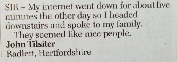 --> RT @AndrewBloch: Great letter in today's Telegraph  (via @anitathetweeter) http://t.co/jdup51aDLc