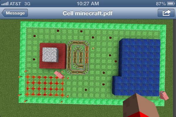 картинки майнкрафт в клетку