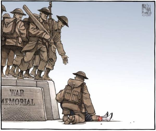 #lestweforget RT @TheAgenda: The Chronicle-Herald editorial cartoon this morning. Powerful. http://t.co/2RV5OgWSlk