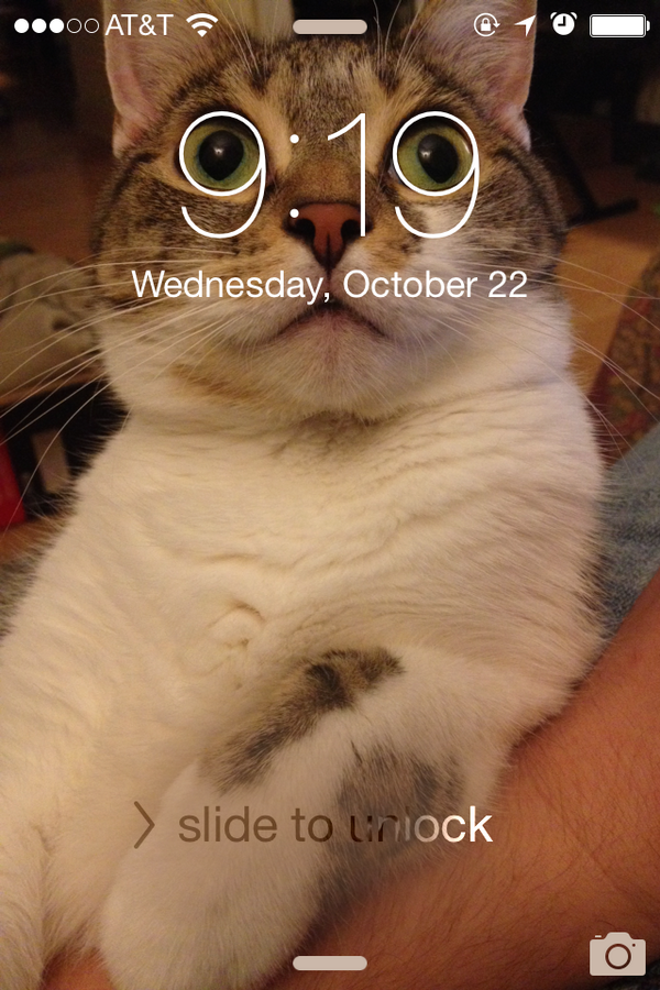 iPhoneの待ち受けに奇跡起きてるな http://t.co/wQscJqmx36