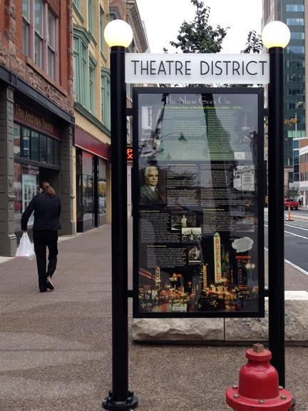 Another #history sign in #buffalotheatredistrict.  Many great images from @buffalohistory and @buffalostate archives. http://t.co/IFAKZZl3qU
