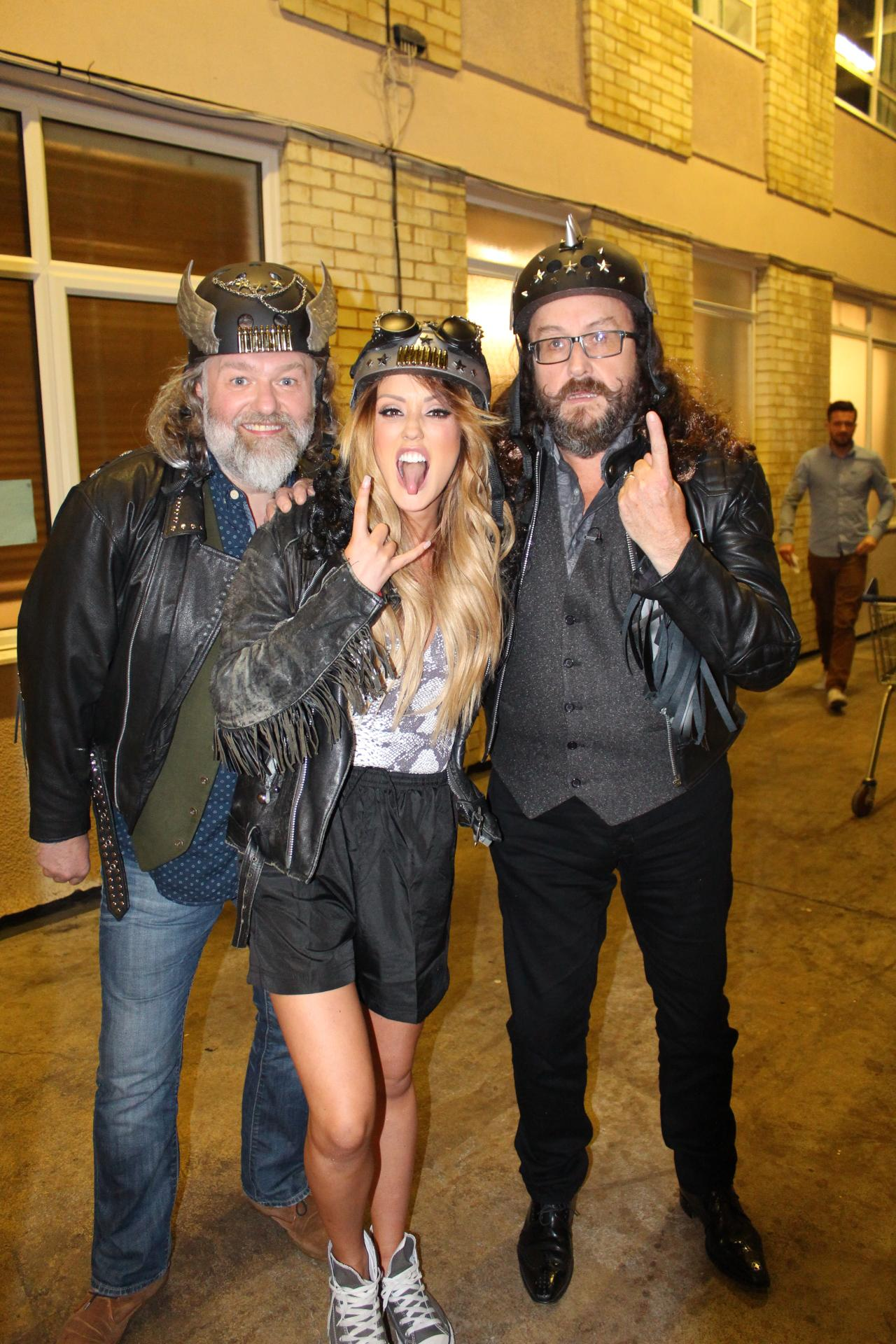 .@Charlottegshore doing her best @HairyBikers pose before the big bike race on tonight's show.Tune in at 10pm @itv2 http://t.co/DtDnz1EZDn