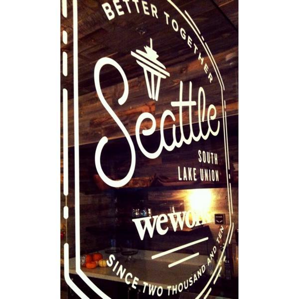 Front door of WeWork's Seattle office