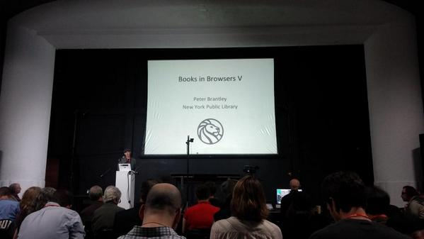 Peter kicking things off at #bib14 - the FIFTH Books in Browsers event!! :) http://t.co/qhbm5AmJgA