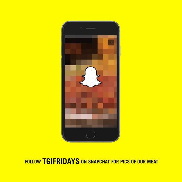 Starting tomorrow, we're going to be sending you pictures of our meat. @Snapchat username: tgifridays. http://t.co/s2f97QRQtJ