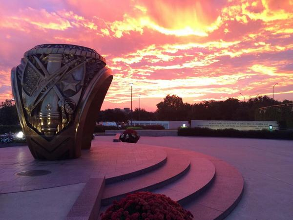 Sunrise picture from this AM...sure to win the internet for Aggies today. Taken by Ashley Morehead @AggieNetwork http://t.co/Uv0QCqfwwp