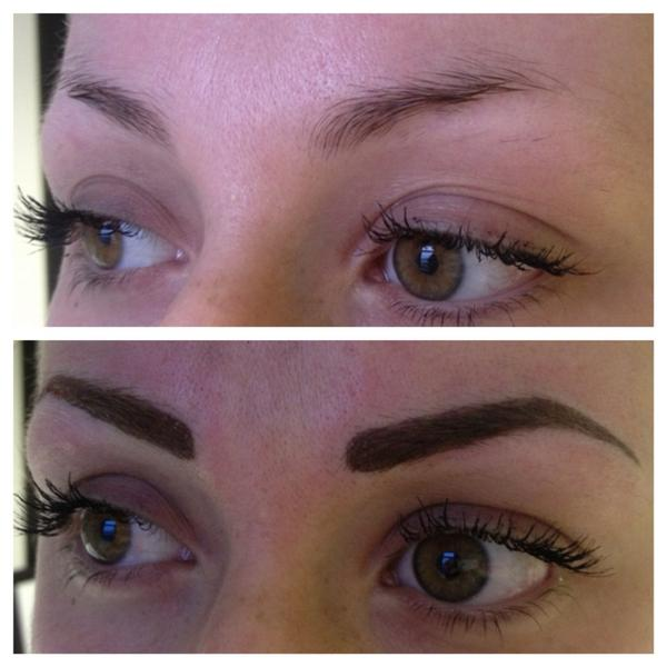 Top powdered permanent eyebrows images for pinterest tattoos for Powder eyebrow tattoo