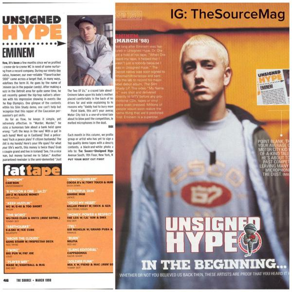 #ThrowbackThursday #TBT In the Beginning. #1998 It's a New Day. New Ownership For 7 Years Now. #UnsignedHype @Eminem http://t.co/IC9ZcTU8KJ