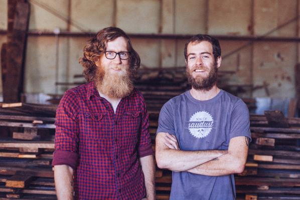 "Sons of Sawdust on Twitter: ""We're a family business. 2 bearded brothers working with #reclaimedwood #handmade #my_athens photo cred @daysdawn ..."