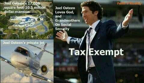 """@tutticontenti: Hey #JoelOsteen, do you really think #Jesus approves of all this? http://t.co/2UQEo0Qkoa"" Praise The Lord ! 4there r idiots"