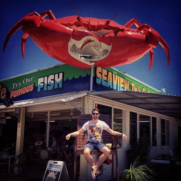Checking out the big crab. #tourlife #transientbeauty #collusionmusic http://t.co/QhMGmzjiJl http://t.co/8waXKr3Xy9