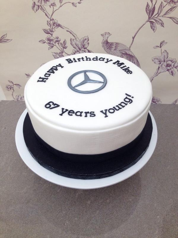 Oscars cake company on twitter today 39 s birthday cake for for Mercedes benz birthday cake
