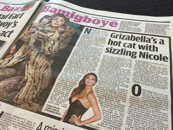 """Sizzling"" @NicoleScherzy spoke with @BazBam about her upcoming role in #CatsLondon..."