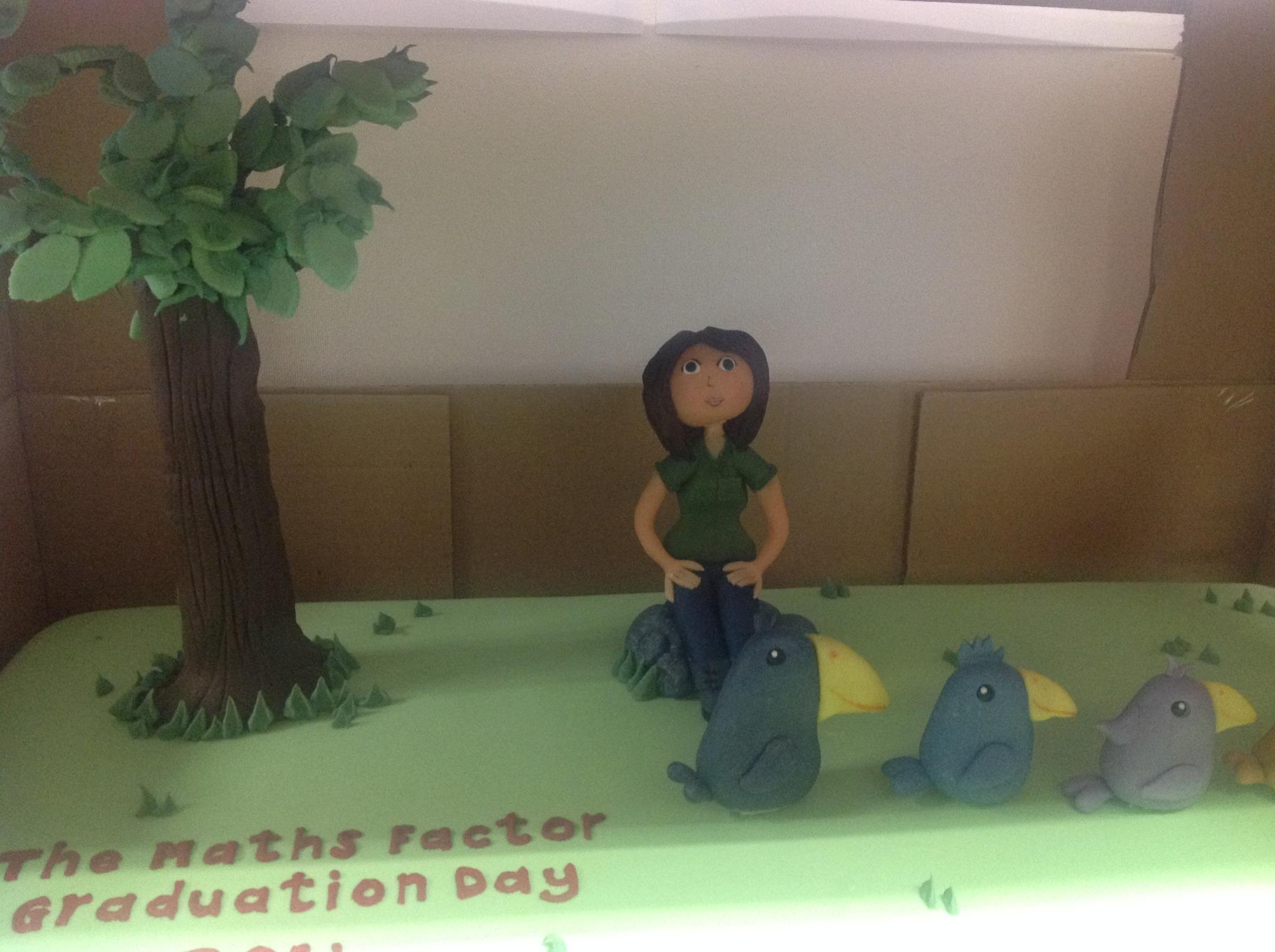 Having our http://t.co/O7Uw3FgjfL graduation on Monday! Here's a sneak peek of the cake..with a sugared me on top!! x http://t.co/fLFUe5eV8b