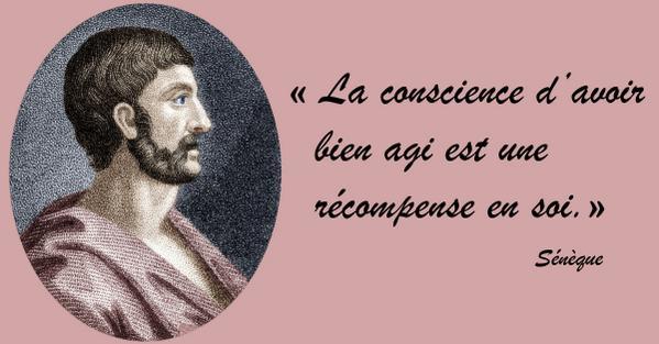 Sénèque Citation Conscience Avoir Bien Agi Est Une