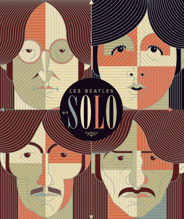 """Les #Beatles en solo"" de Mat Snow, une couverture qui donne envie :) #livre @ed_lamartiniere @thebeatles"