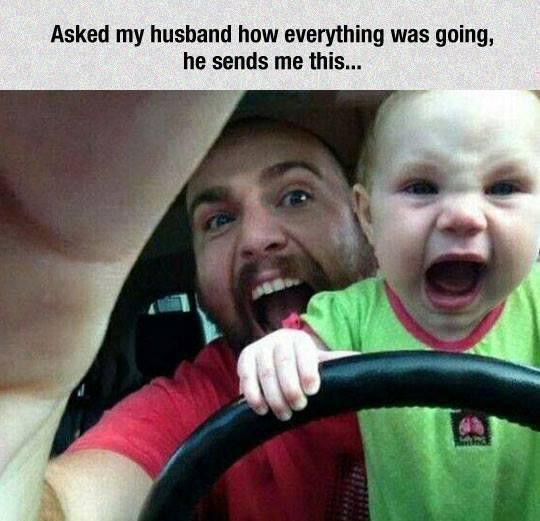Ever wonder what your husband and your child do when left alone together? http://t.co/opQErmygQZ