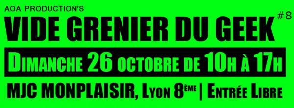 Le Vide Grenier du Geek est de retour dimanche à Lyon avec @aoa_production ! http://t.co/n4XOUhTVFj http://t.co/qbYDdFrPxn
